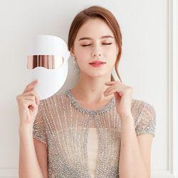 S 제스파 비비드 LED마스크 얼굴마사지기 3파장 초경량