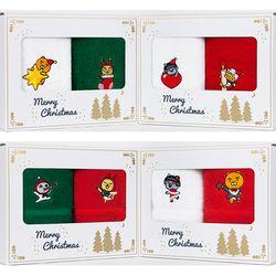 카카오프렌즈 크리스마스 세면타올 2매선물세트