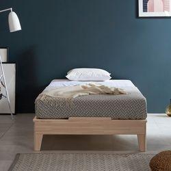 웰 편백나무 Q 마루형 원목 침대매트포함 FMF184