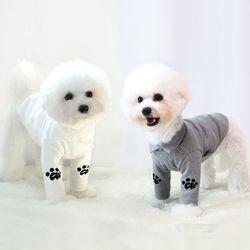 강아지옷 명품 실내복 골지롱소매