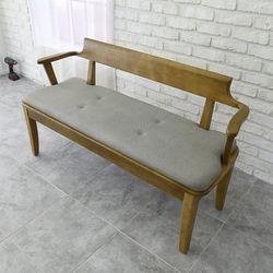 산토 고무나무 원목 식탁 벤치의자 2인