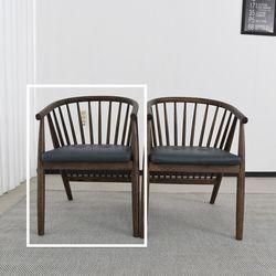 슈틸 고무나무 원목 식탁 의자