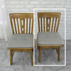 산토 고무나무 원목 식탁 의자