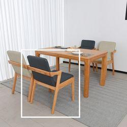 스펀 원목 식탁 의자