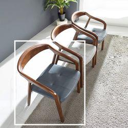 나딘 고무나무 원목 식탁 의자