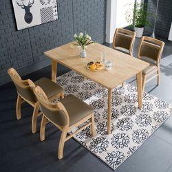 사모아 원목 4인 의자형 식탁세트