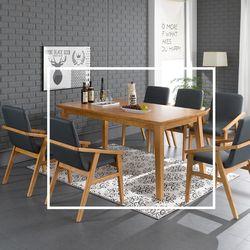 바베이 원목 식탁 테이블 6인