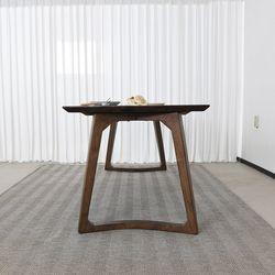 슈틸 고무나무 원목 식탁 테이블 6인