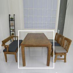 산토 고무나무 원목 식탁 테이블 6인