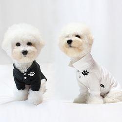 강아지옷 명품 실내복 PK카라티