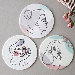 [YG]감성북유럽 실리콘 연인 냄비받침 3type