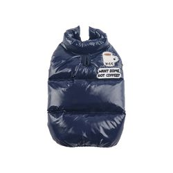 Alaska Crew high-neck down jacket Navy