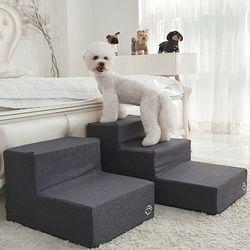 강아지계단 침대 발판 3단 속 방수