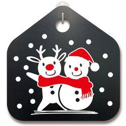 크리스마스알림판루돌프와 눈사람과 함께