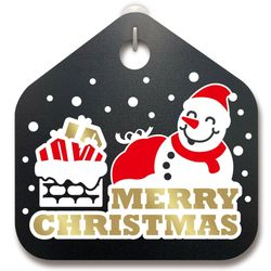 크리스마스알림판산타 눈사람과 크리스마스