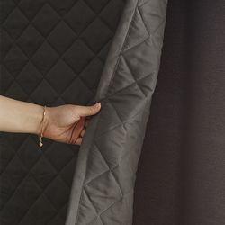 마이크로 워싱 무봉제 바람막이 3중누빔 방풍커튼(150x230)