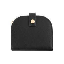 하프문 똑딱이 반지갑 블랙(AG2H02R2TABB)