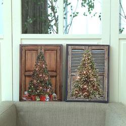 크리스마스 트리 조명액자 LED 캔버스 무드등 2 type