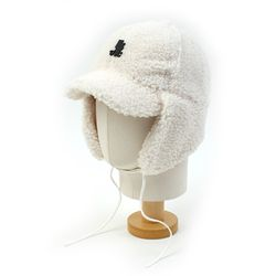 Thunder White Fleece Earflap Cap 귀달이모자