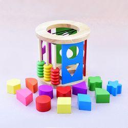 (가베가족) KS2828 원목 도형 놀이 원형