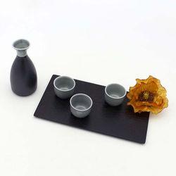 NEMO 달소금 고급스러운 도자기 꽃봉 스카이그레이 주병세트(4P)