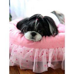 퍼피아 러빙유 하우스 강아지 방석(핑크) M