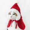 크리스마스 산타옷 빨간 망토 겨울 고양이 강아지 옷 Miyopet