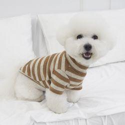 올데이 단가라 반폴라 강아지옷 애견 실내복 브라운