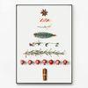 대형 메탈 모던 식물 인테리어 포스터 액자 크리스마스 트리 B