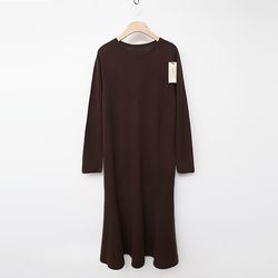 Laine Cashmere Wool Flare Long Dress