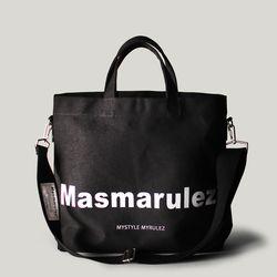 Basic cotton cross bag - Black
