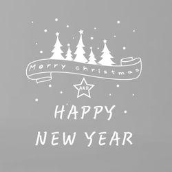 CHRISTMASHAPPYNEWYEAR 크리스마스해피뉴이어 데코그래픽스티커