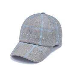 GL CHECK BASEBALL CAP BLUE GREY
