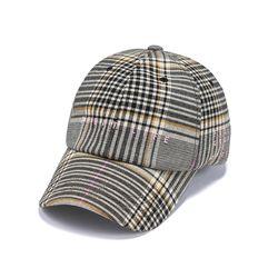 GL CHECK BASEBALL CAP PINK GREY