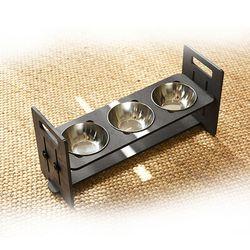 런메이크 맘마 높이각도조절 강아지밥그릇 고양이식기-맘마 3구