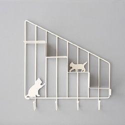 고양이 미니 선반(화이트)