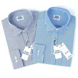 런던스트라이프 블루 네이비 긴팔 와이셔츠RF11423
