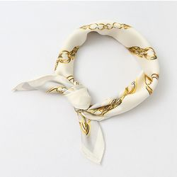 Chain Square Petit Scarf - New