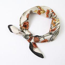 Autumn Flower Square Petit Scarf - New
