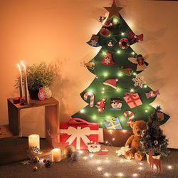 (SET) 크리스마스 펠트 트리+LED조명