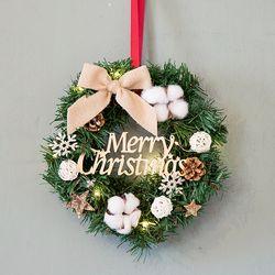 크리스마스 리스(25cm-전구포함)