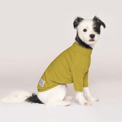 강아지옷 플로트 스탠다드 하프넥티셔츠 라임