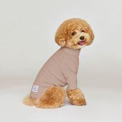 강아지옷 플로트 스탠다드 하프넥티셔츠 웜핑크