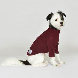 강아지옷 플로트 스탠다드 하프넥티셔츠 버건디