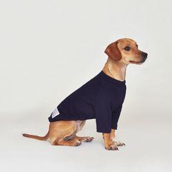강아지옷 플로트 스탠다드 하프넥티셔츠 네이비