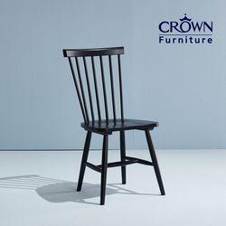 블랙 원목 식탁 의자