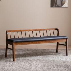 바미르 고무나무 원목 3인 벤치의자