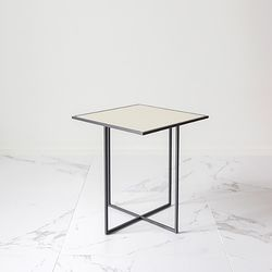 CROSS BEDSIDE TABLE B 사각 유리테이블 사이드테이블