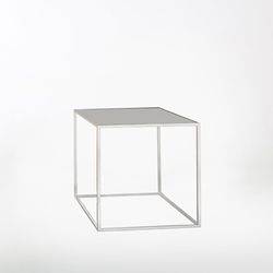SQUARE BEDSIDE TABLE - BEIGIE 거실 침실 협탁 사각테이블