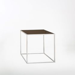 SQUARE BEDSIDE TABLE - BRONZE 거실협탁 유리테이블